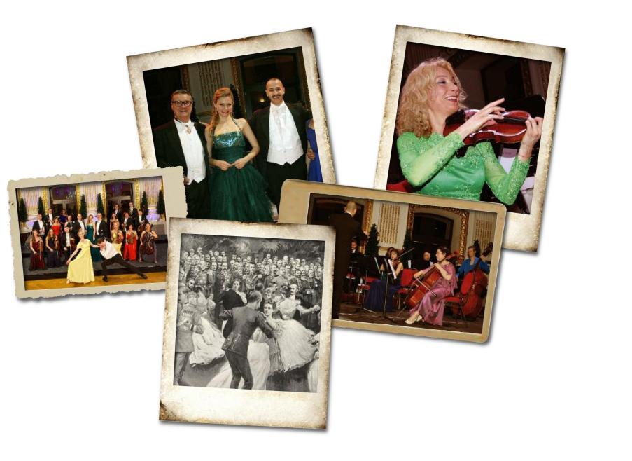 Impressionen von den Johann Strauss Konzerten Wien und dem Orchester