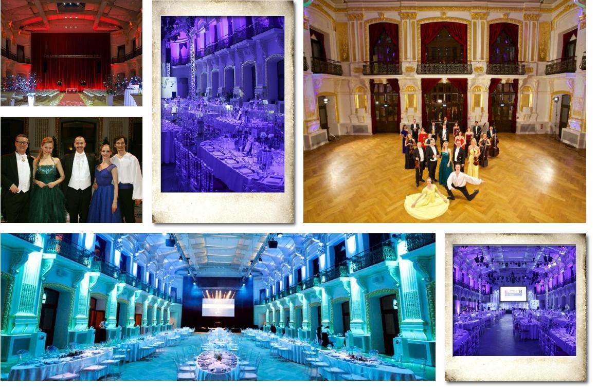 Impressionen der Sofiensäle Wien, Bestuhlung für Konzert sowie Veranstaltungen