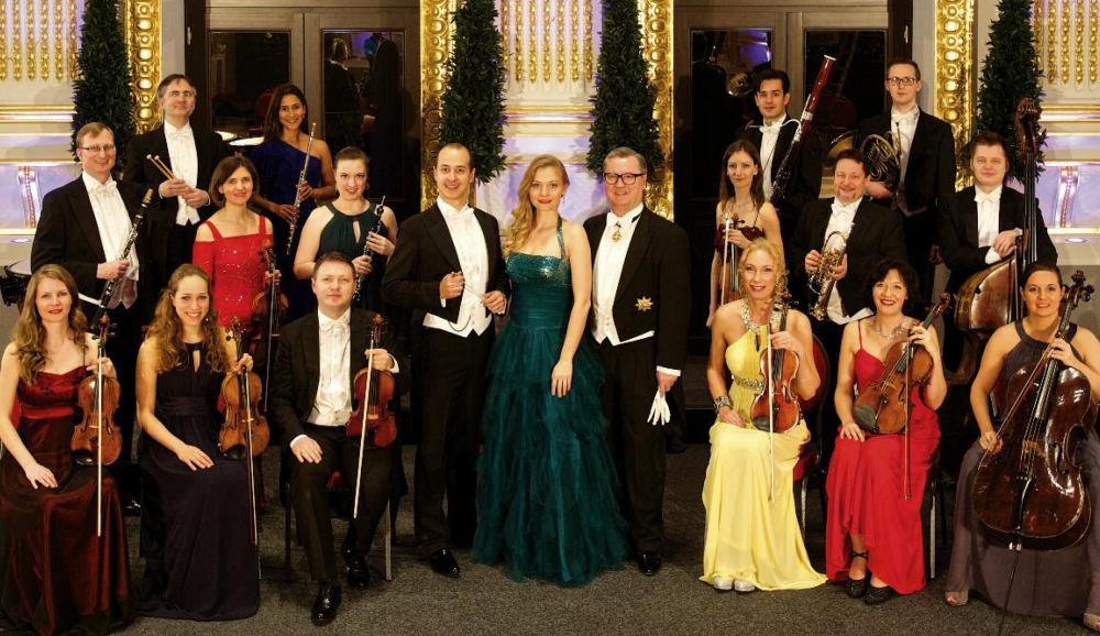 """Die """"Wiener Johann Strauss Virtuosen"""" spielen täglich ein klassisches Konzert in den Sofiensälen Wien."""