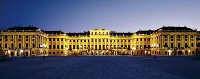 Das Schloss Schönbrunn in Wien